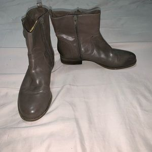 Naturalizer Ankle Boots Brown Zip Up Heel Size 7 M